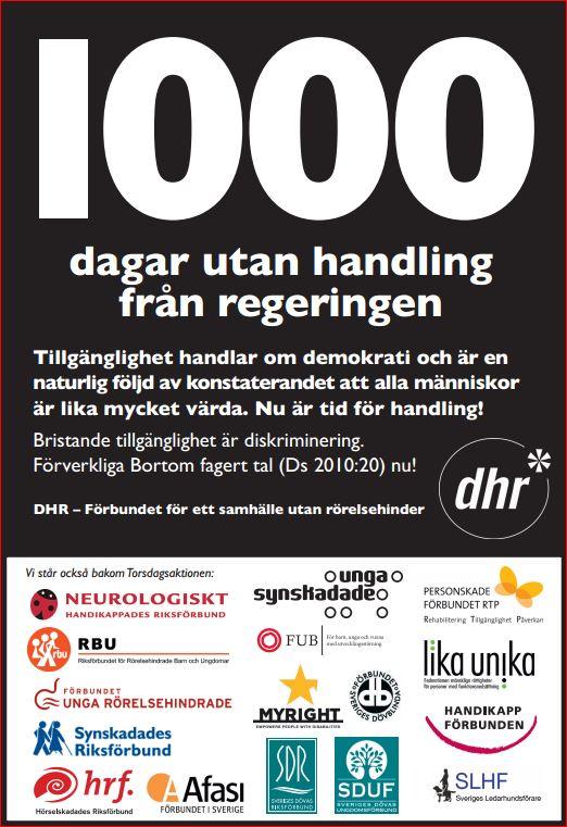 1000 dagar Torsdagsaktionens flygblad