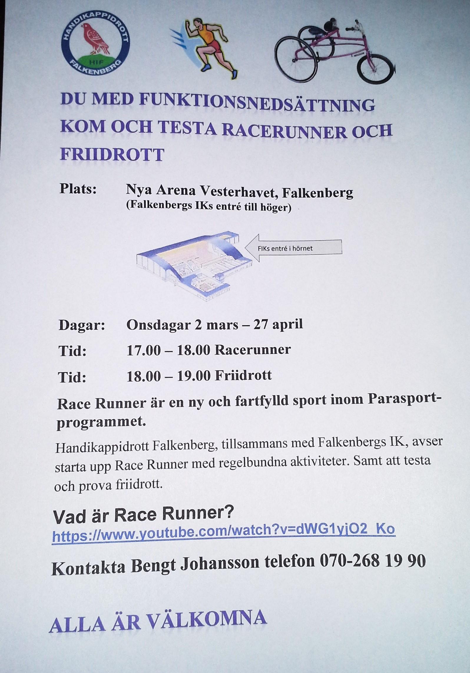 Inbjudan Racerunner och Friidrott