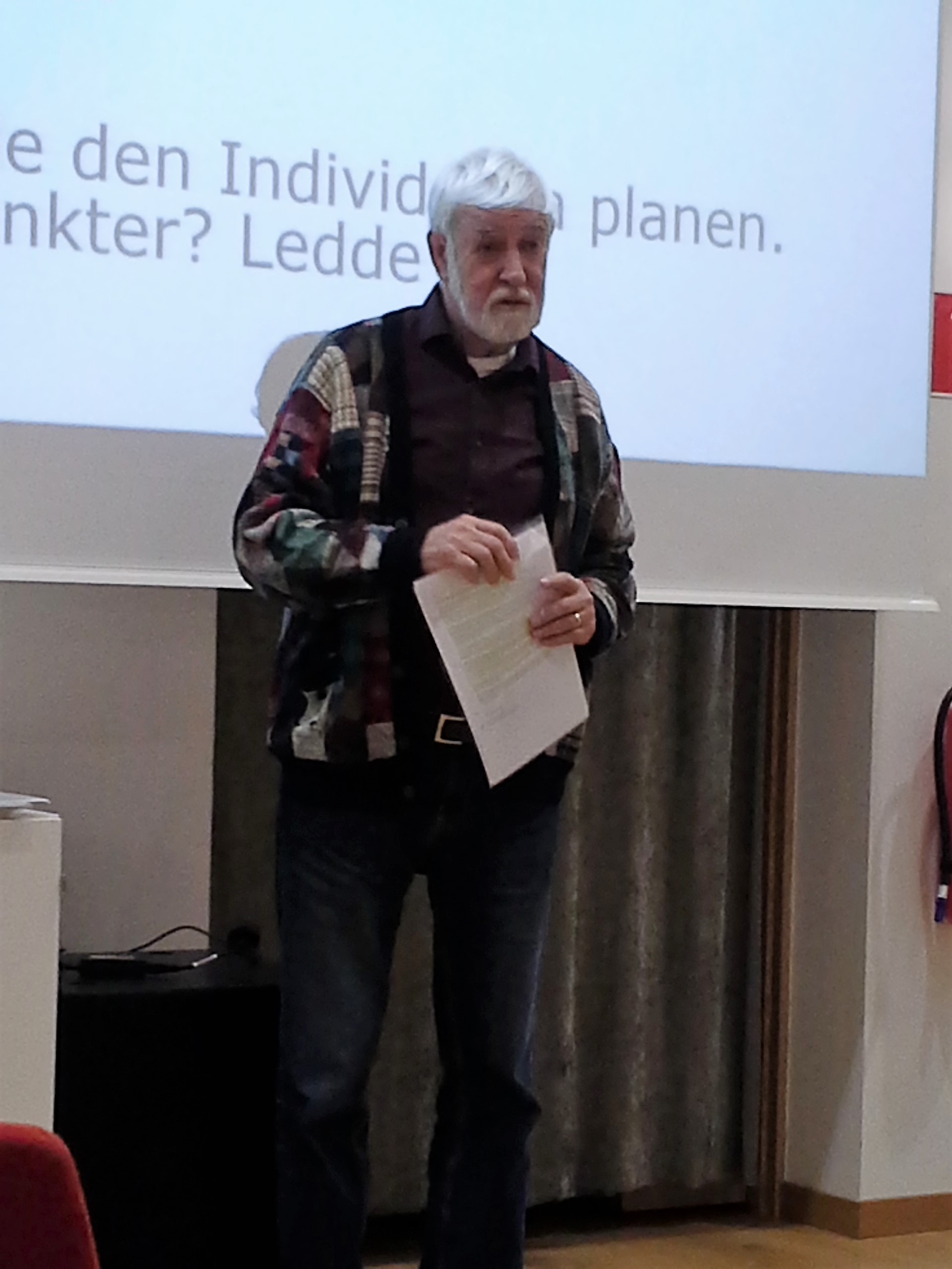 Bengt Rudqvist informerar