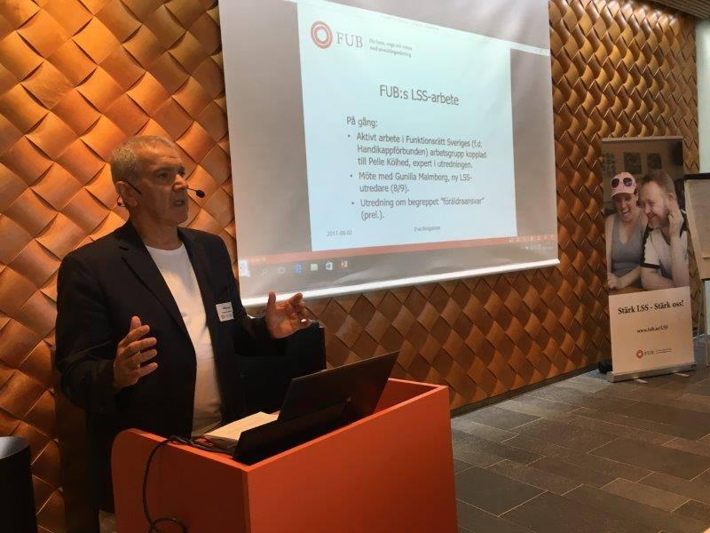 Abbas Haghjo från FUB Västerbotten på FUB:s LSS-dag i Umeå 2 september 2017.