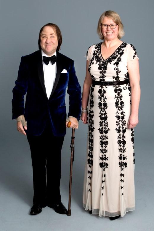 Störd och stolt galans värdpar Anders Wieslander och Anna Hildingsson