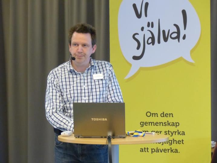 Anders Peterson, Riks-Klippans ordförande, berättar om Klippans arbete