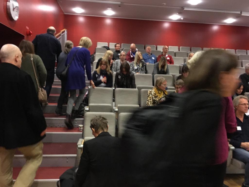 Deltagarna tar plats på avslutningskonferensen för Anpassad IT