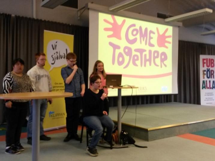 Come Togethers ambassadörer Viktoria, Viktor, Axel och Joanna, samt projektledare Johanna berättar om projektet