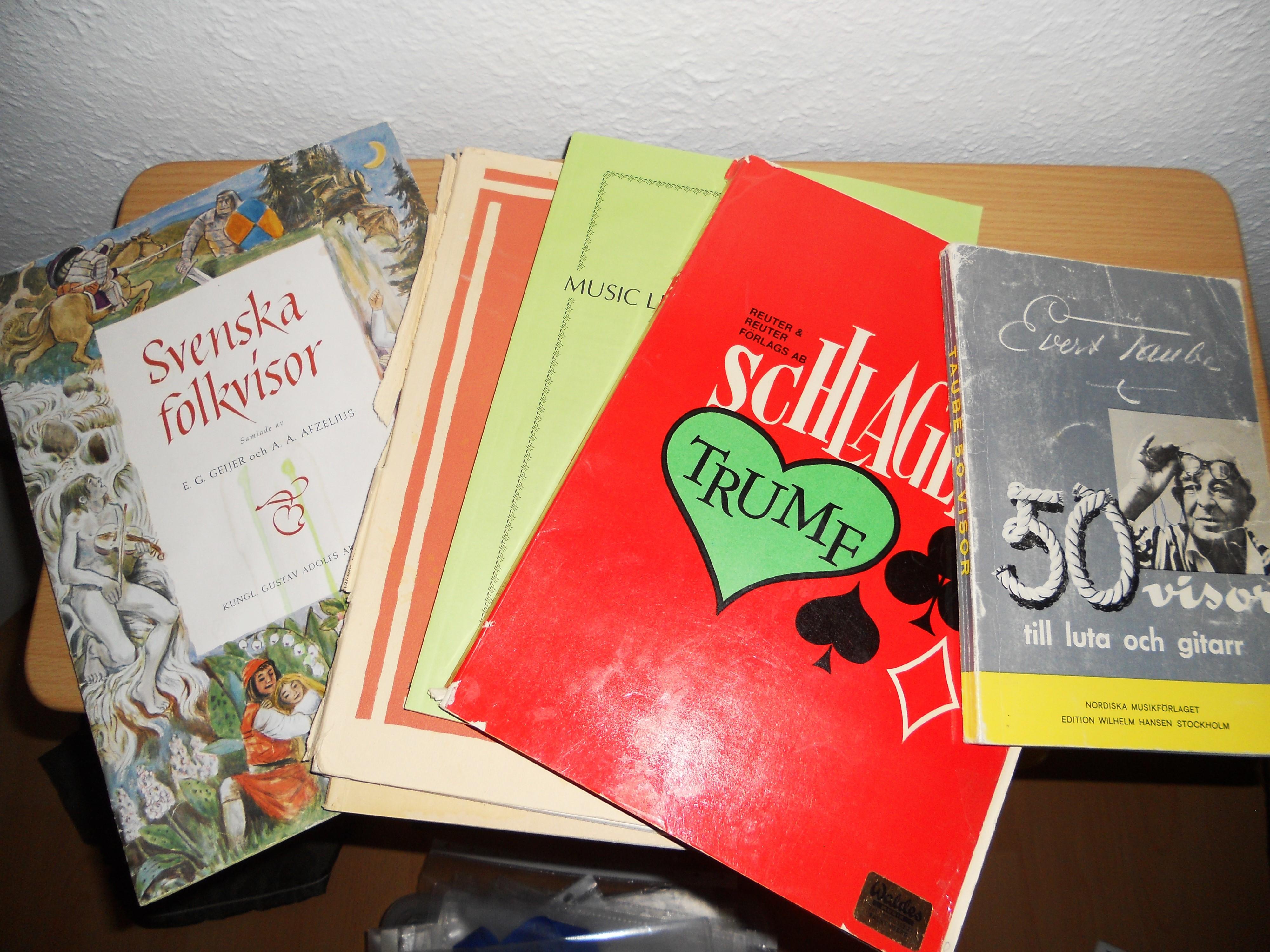 Notböcker för piano