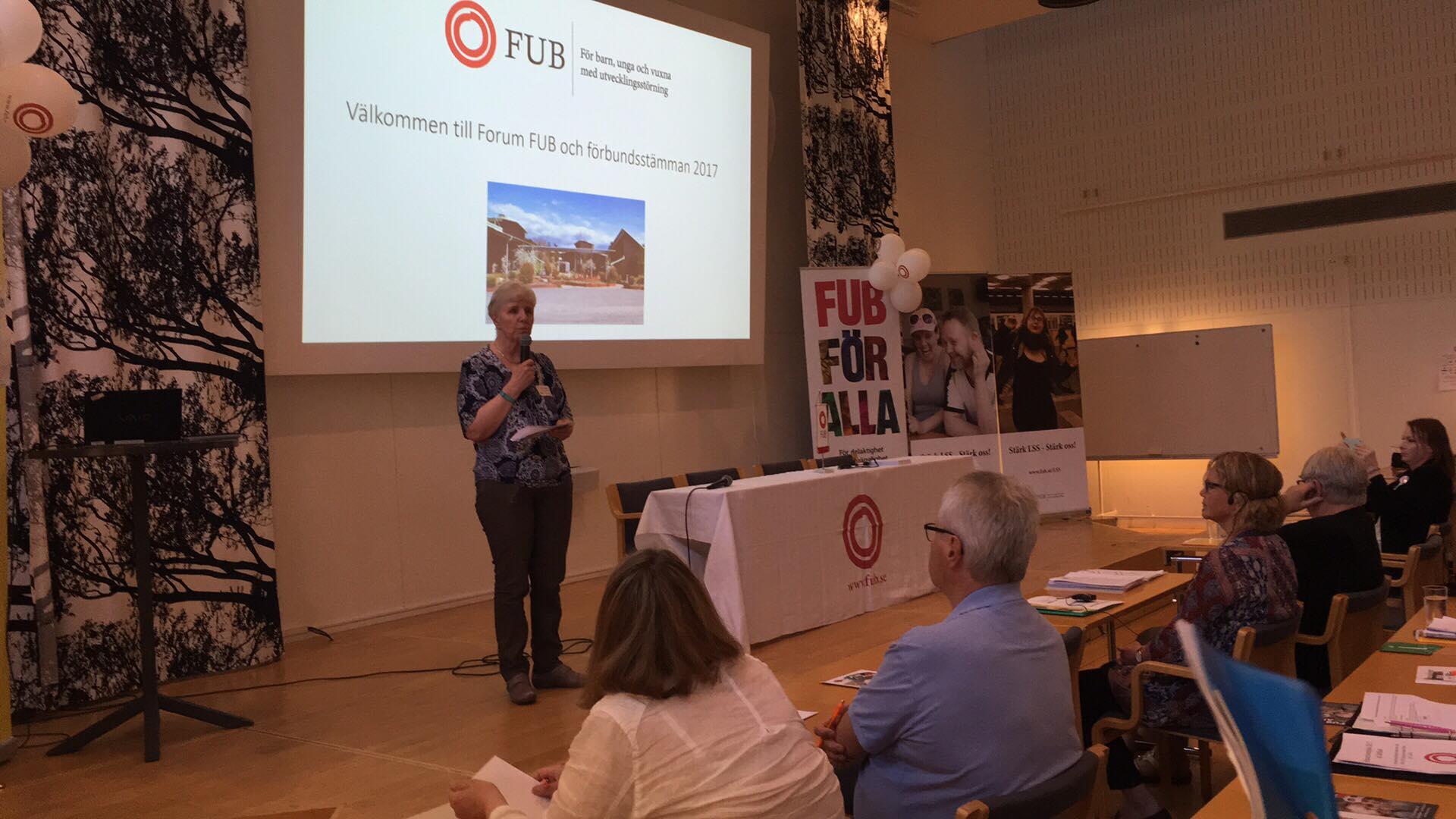 Forum FUB 2017, moderator för tema hälsa Elaine Johansson