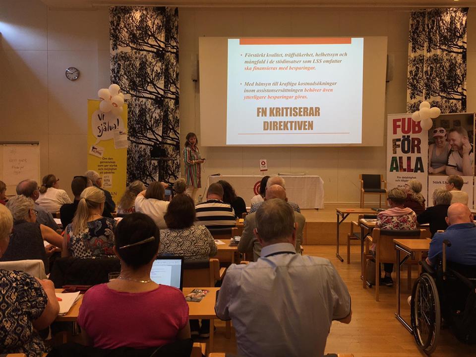 Forum FUB 2017 Judith Timoney berättade om Funktionsrätt Sveriges LSS-arbete