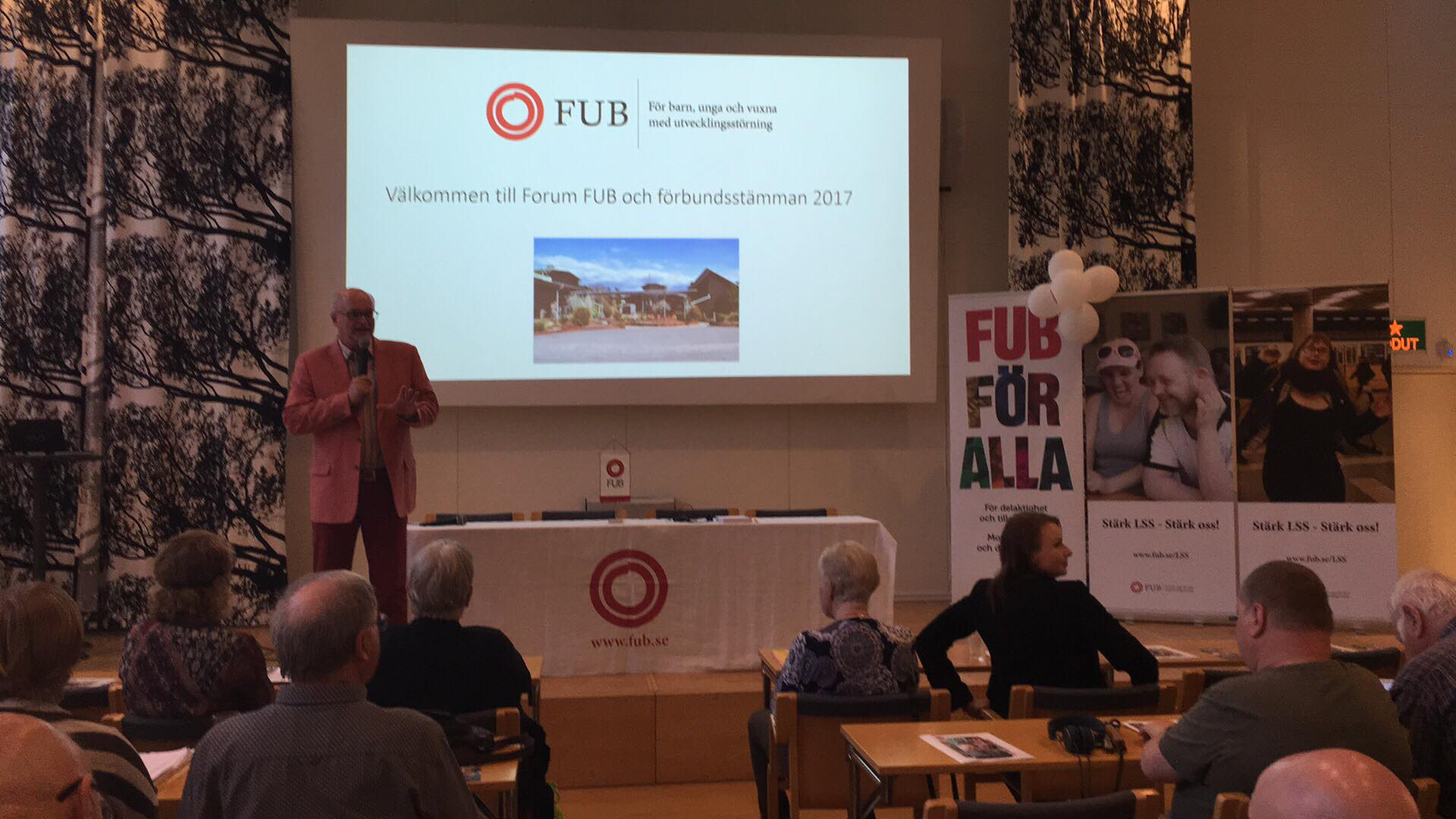 Forum FUB 2017 Riksförbundet FUB:s ordförande Thomas Jansson inleder