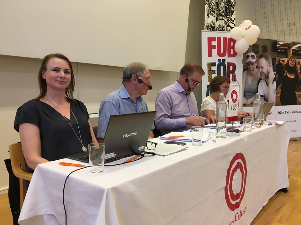 Presidiet för FUB:s förbundsstämma 2017: Nina Alander, Göran Stridsberg, Bengt Eliasson och Monica Carlsson