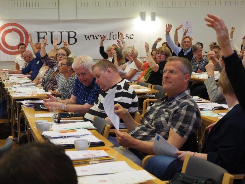 FUBs förbundsstämma 2017 Omröstning.