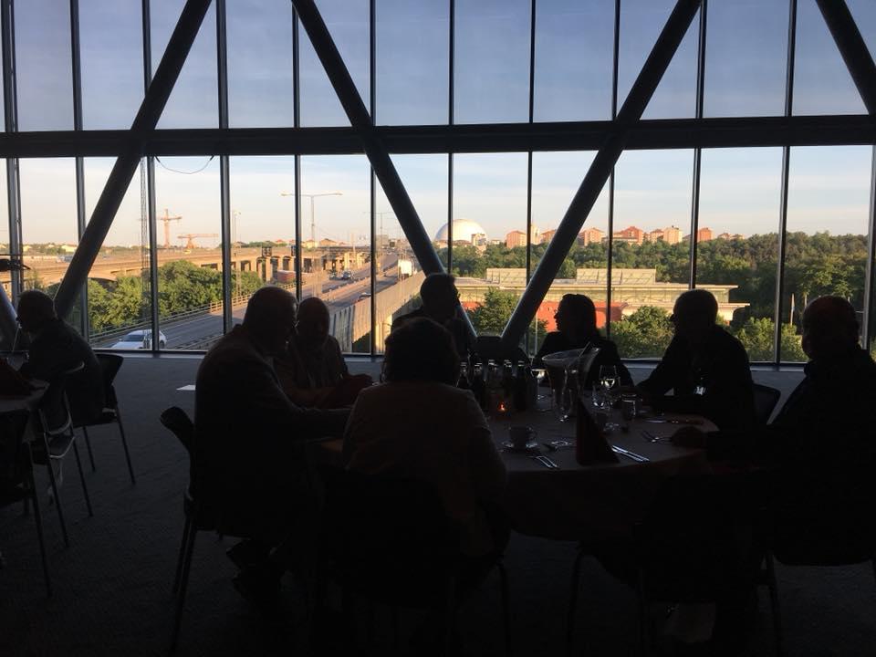 FUB:s förbundsstämma 2018 middag med utsikt mot Globen