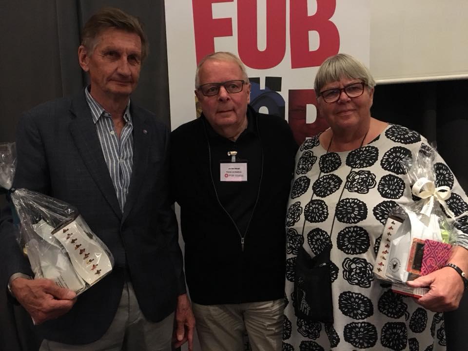 FUB:s förbundsstämma 2018: Pentti Lamberg, Jan-Åke Wendel och Lillemor Holgersson