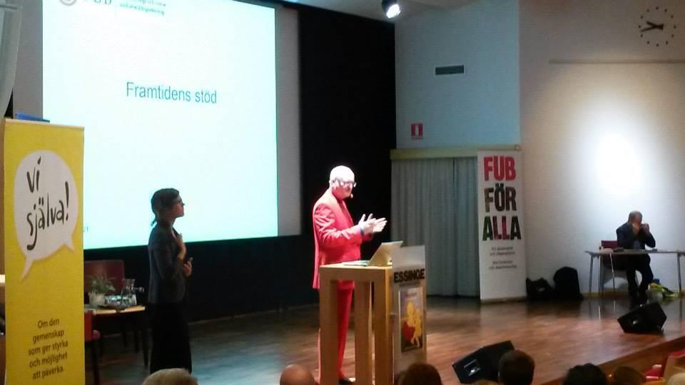 FUB:s ordförande Thomas Jansson i inledningen av Intradagarna 2015