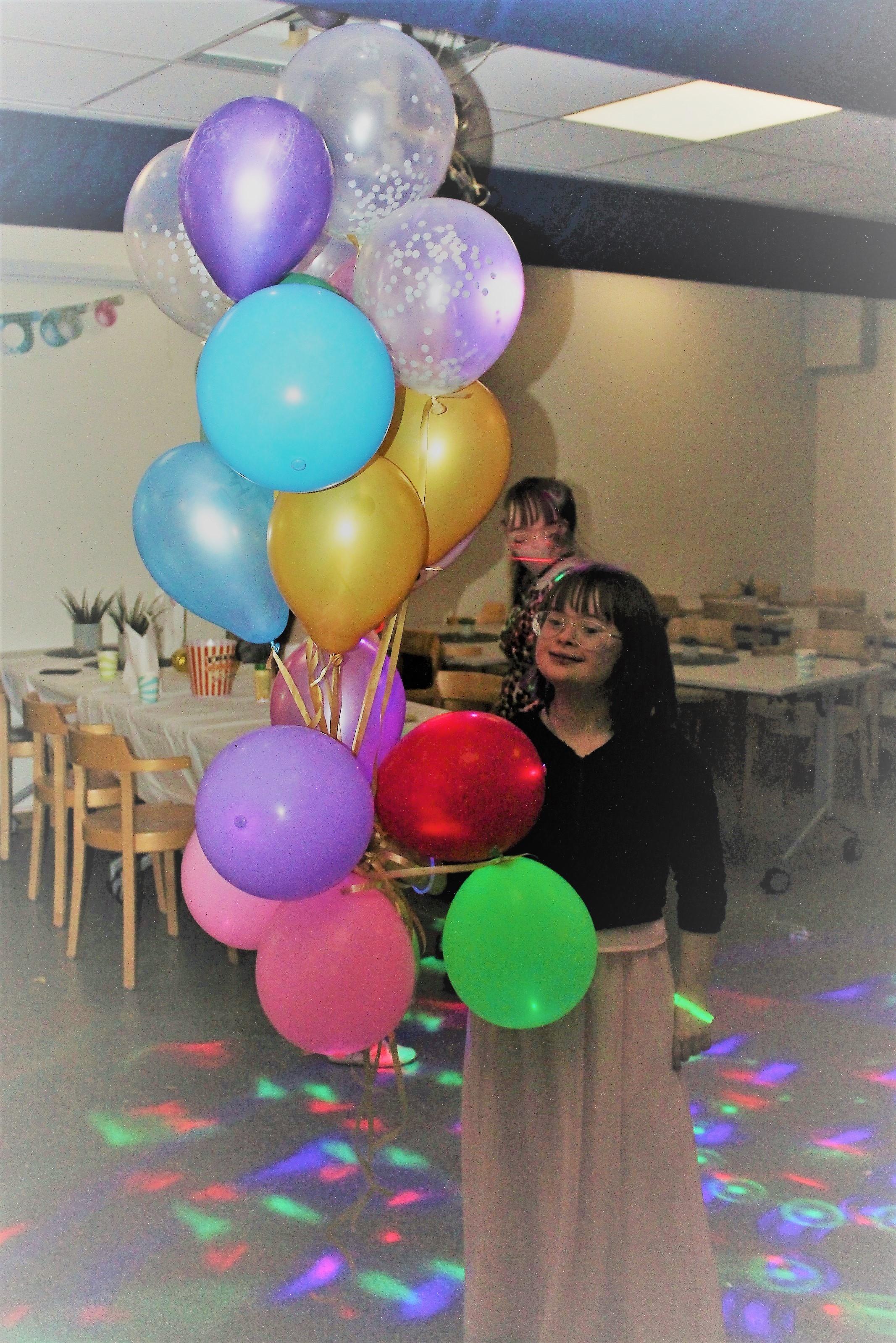 Vilma med ballonger