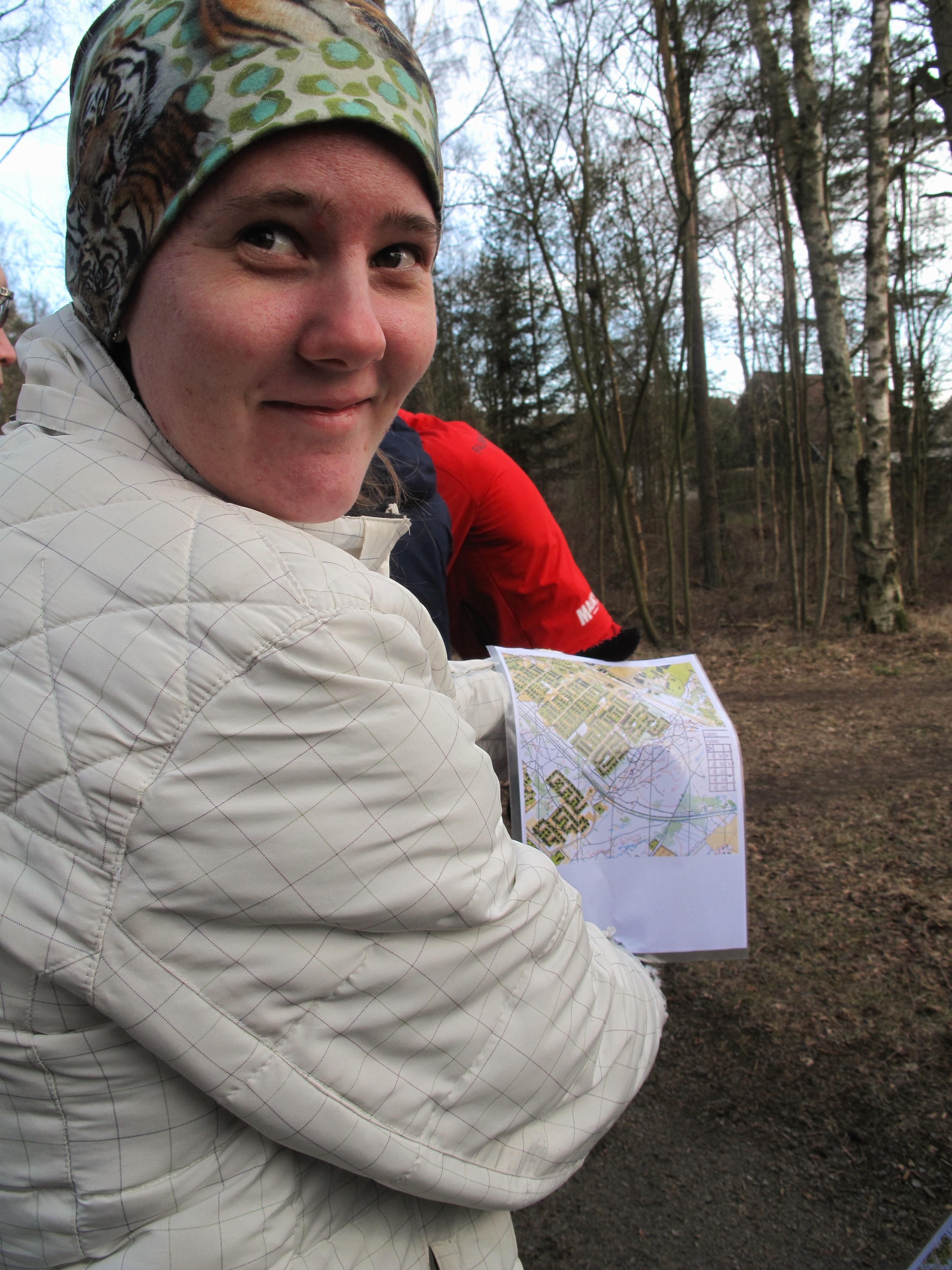 Sara har fått en karta