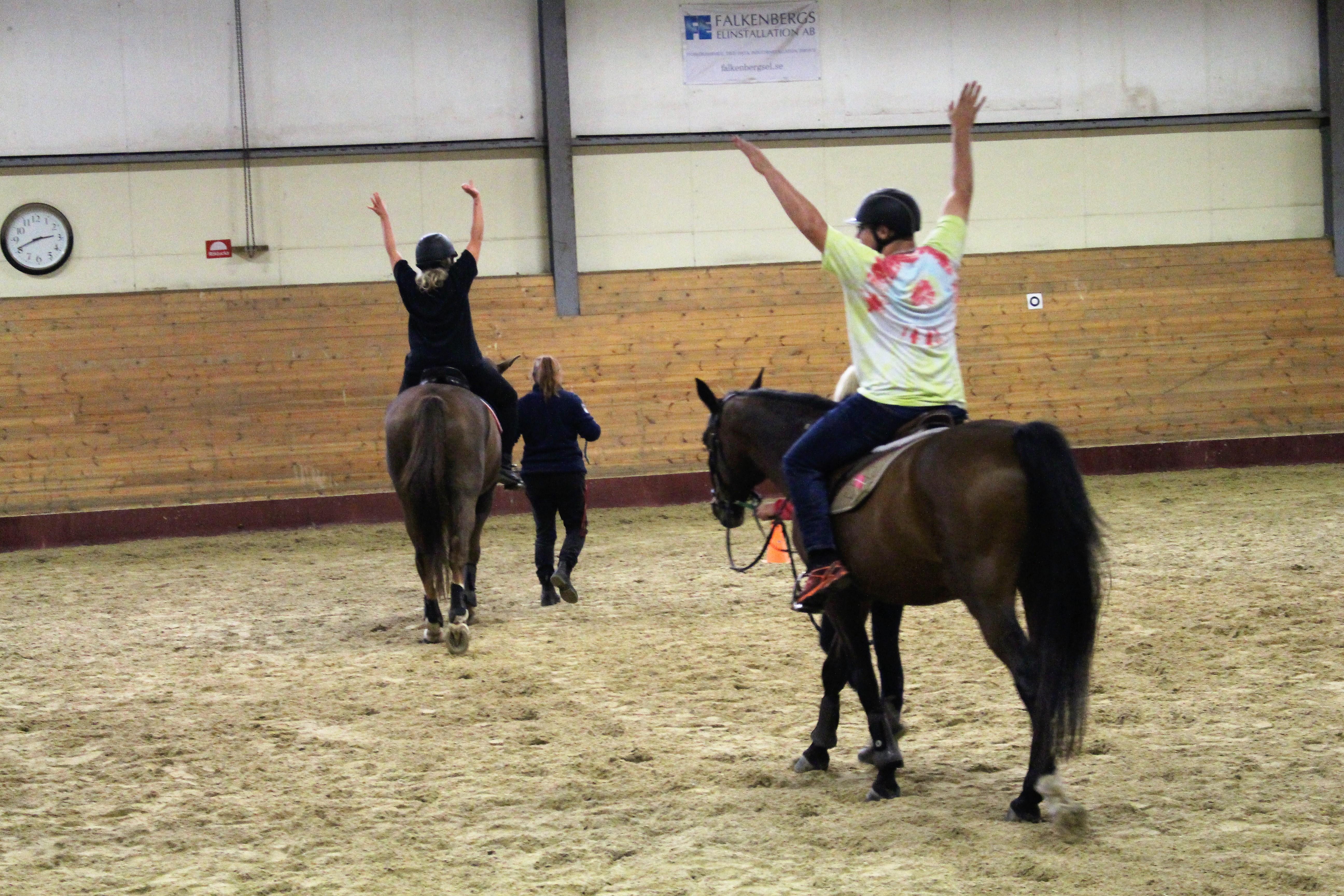 Balansträning på hästryggen