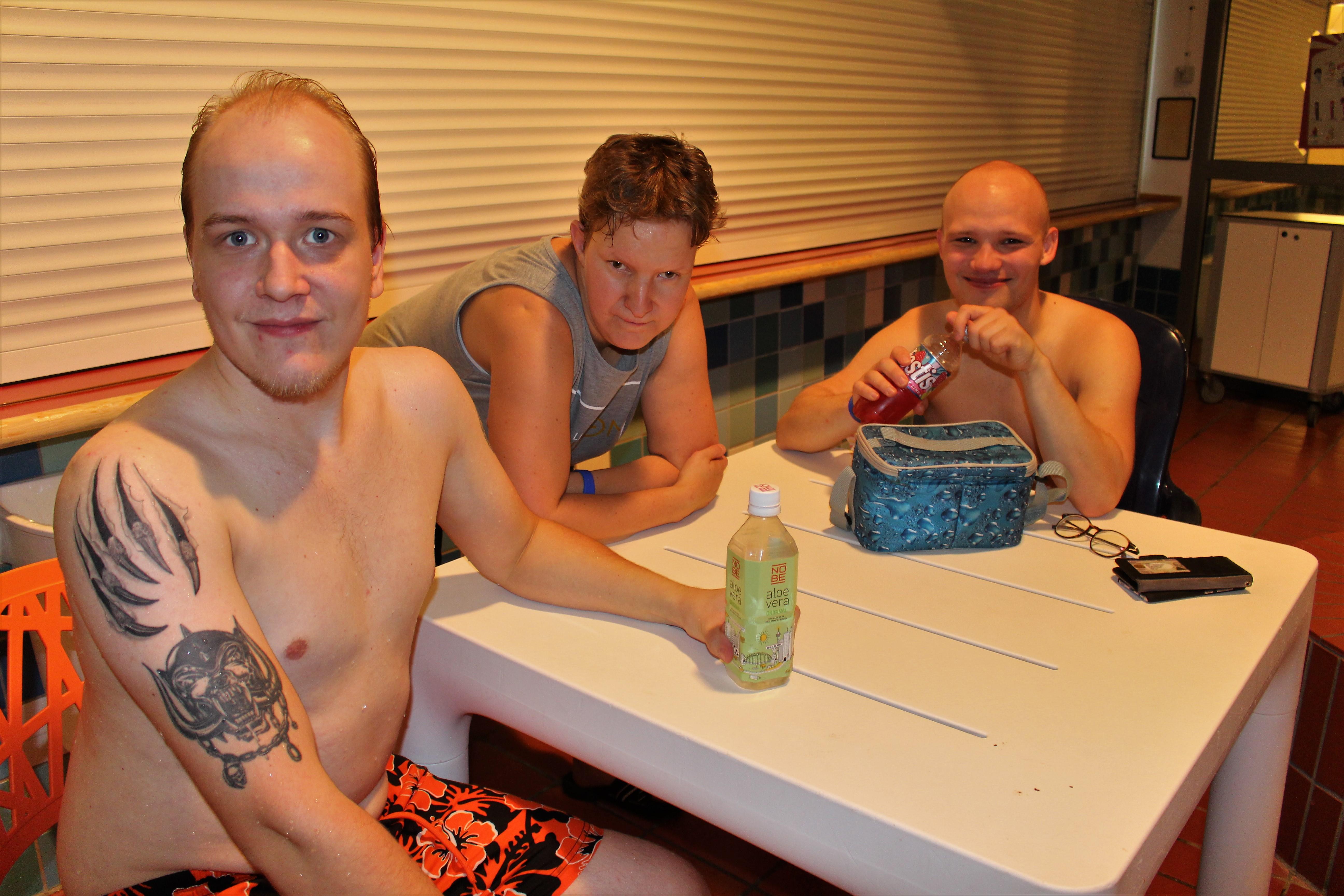 Petter, Elin och Oscar