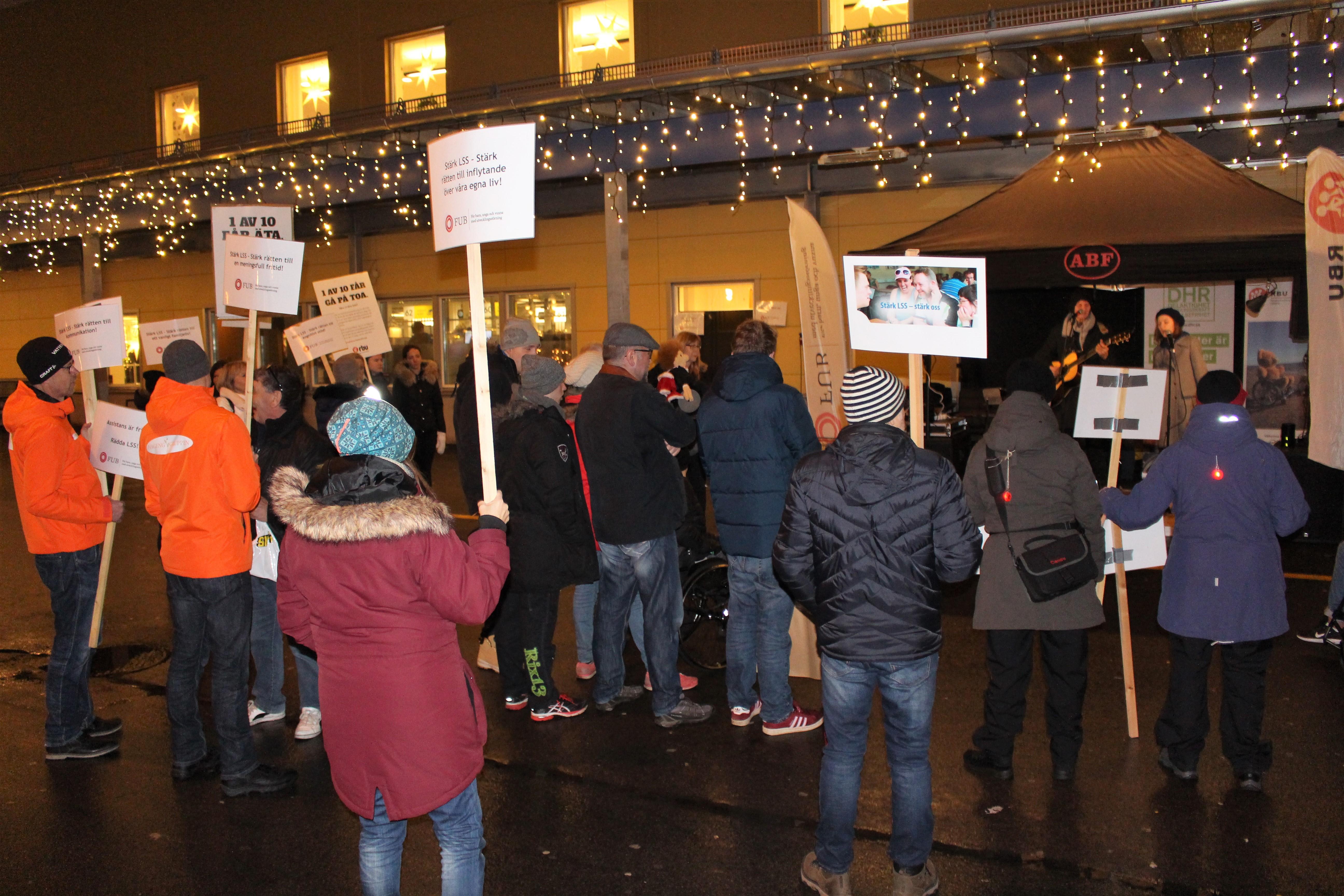 Deltagare på manifestationen
