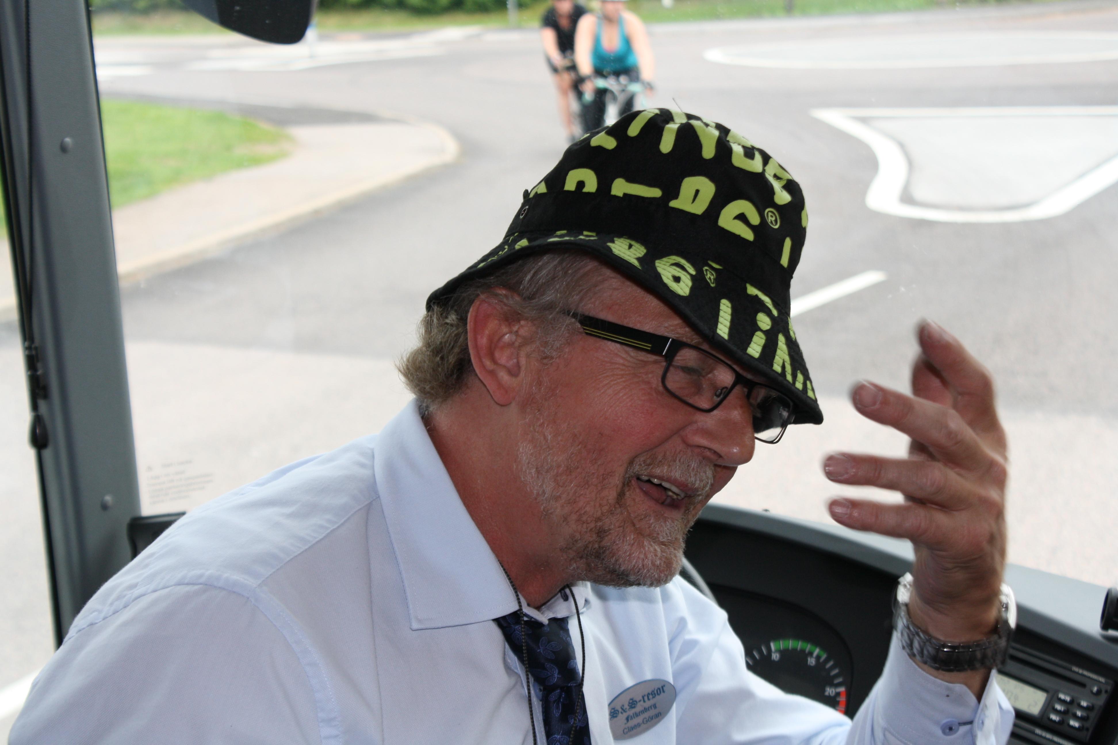 Claes-Göran var busschaufför på resan