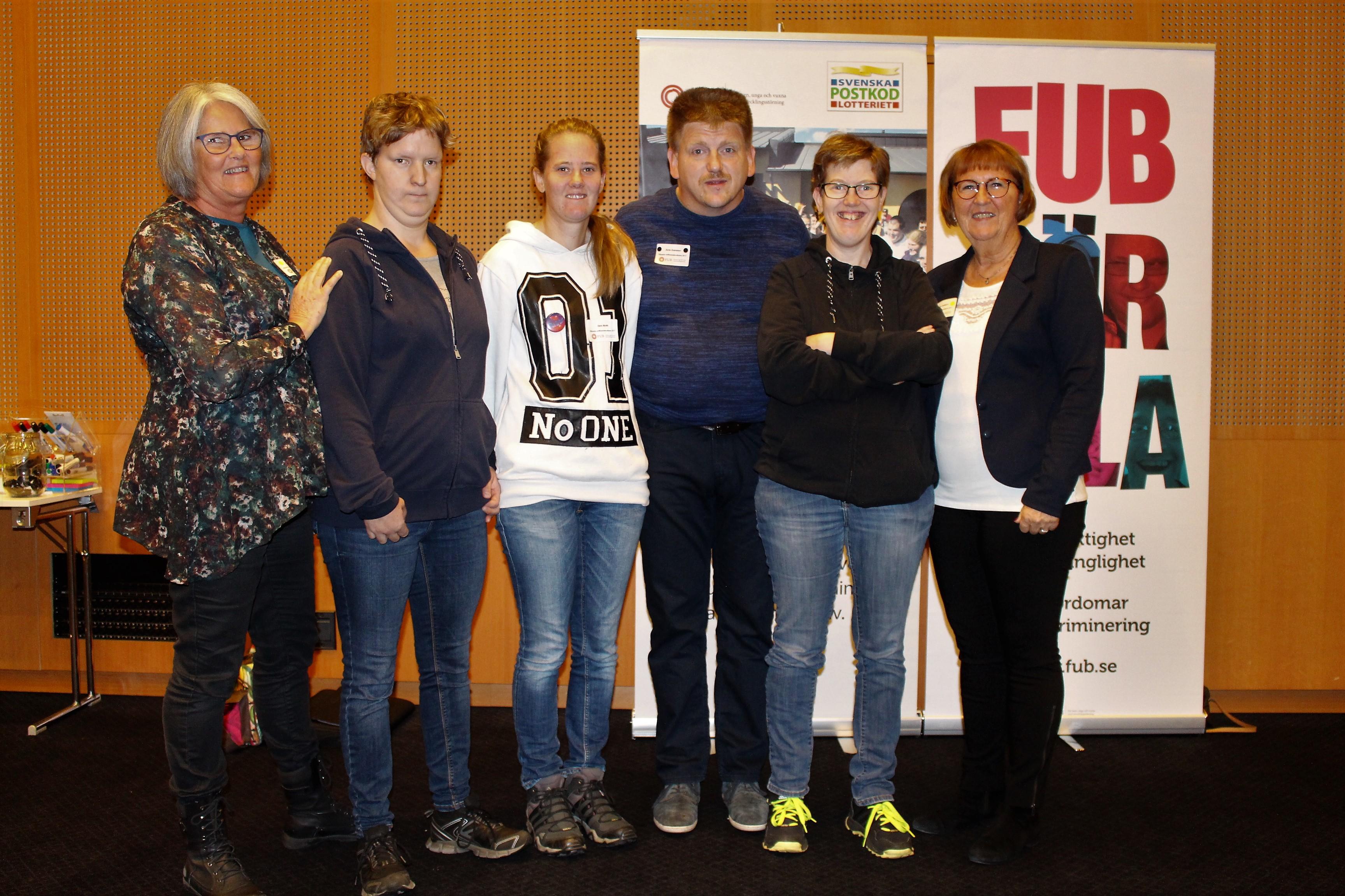 Inger, Elin, Sara, Sune, Gunilla och Monica