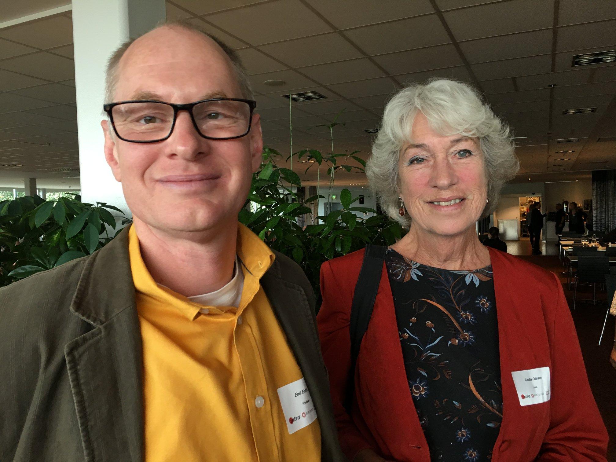 Intradagarna 2019: Emil Erdtman och Cecilia Olsson på väg till lunchen