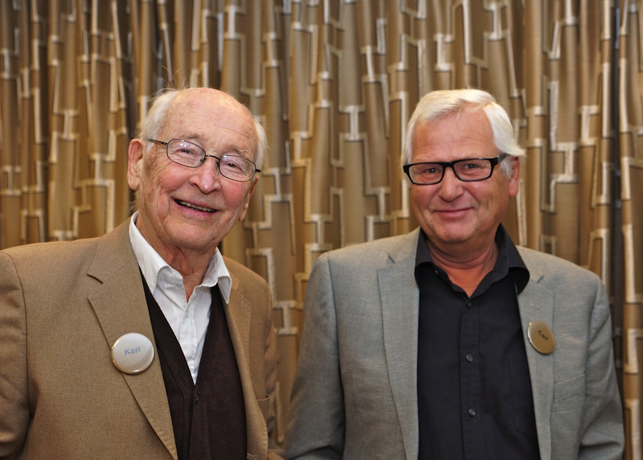 Karl Grunewald och Carl Leczinsky på ALAs jubileum