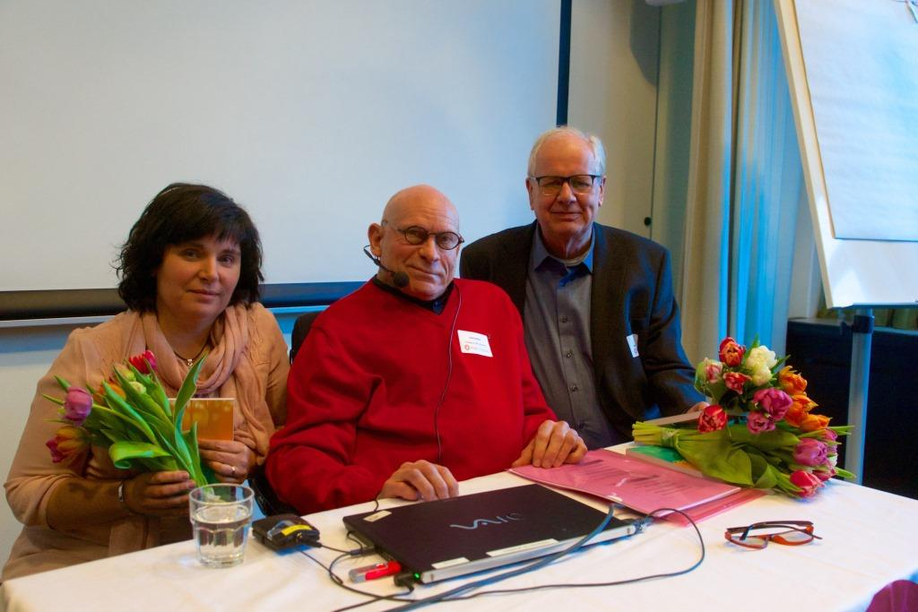 FUB:s LSS-dag i Stockholm den 28 januari 2017, Elisabeth Langran, Pelle Kölhed och Harald Strand. Foto Agneta Heins.