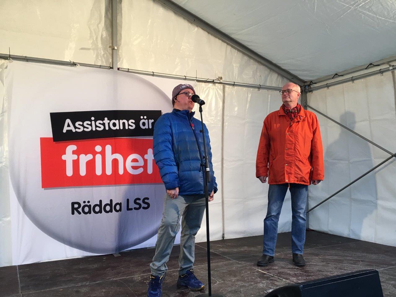 LSS-manifestation Stockholm 2017: Krister Ekberg och Thomas Jansson talar