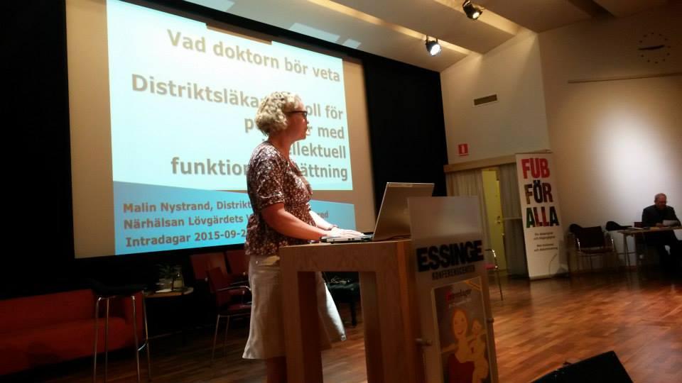 Malin Nystrand, läkare, på Intradagarna 2015