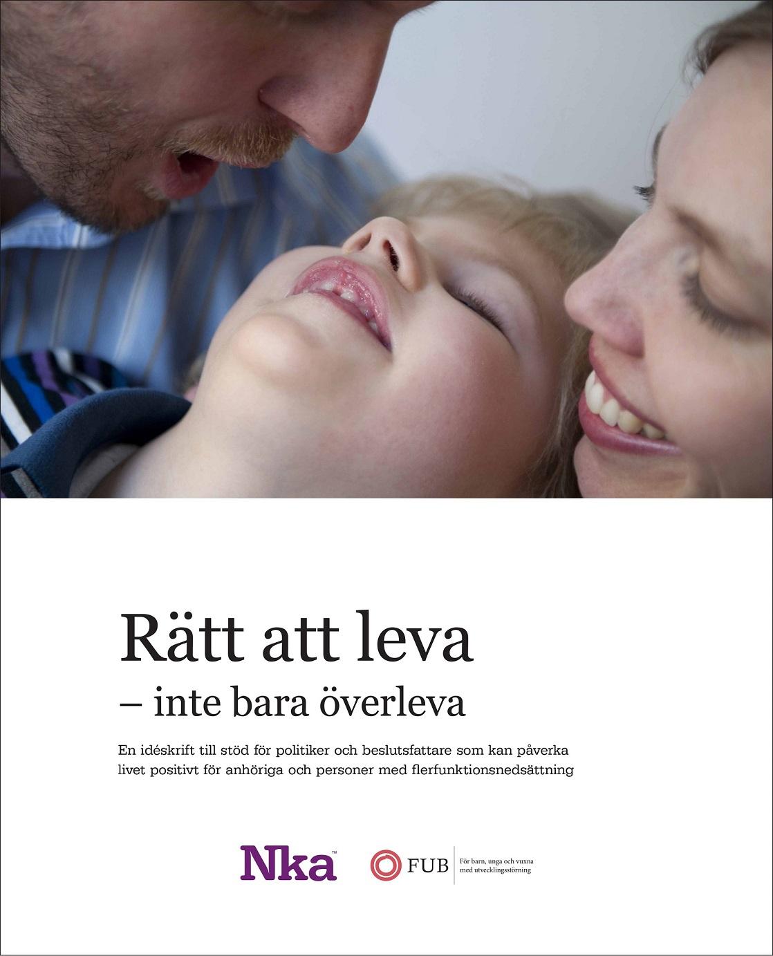 Omslaget till idéskriften Rätt att leva, inte bara överleva