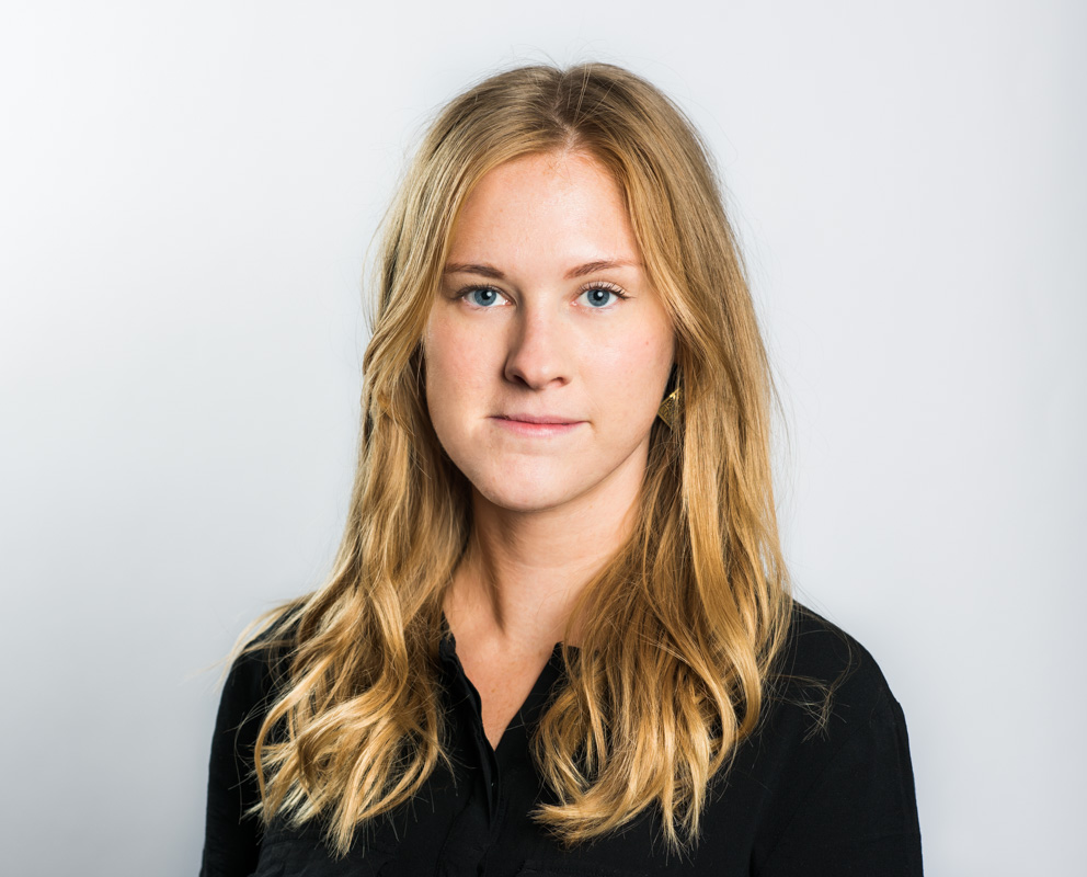 kommunikatör och organisationsstödjare Rebecka Zackrisson 2018 Fotograf: Linnea Bengtsson