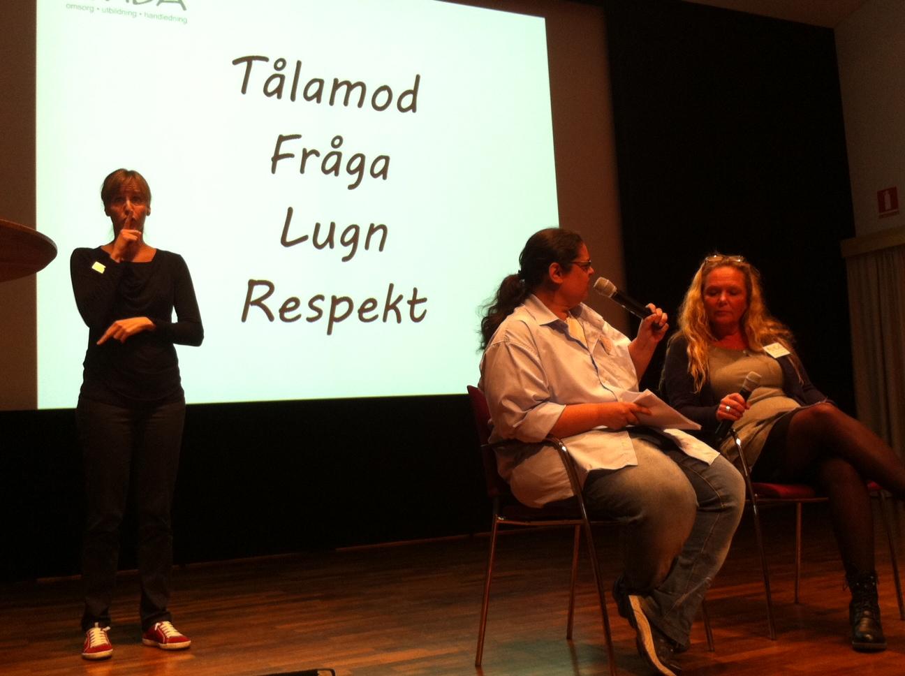 Sanna Johansson och Eva Isaksson