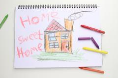 Unik Försäkring barnteckning hem
