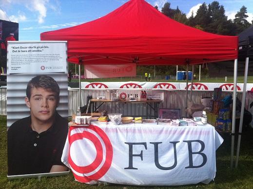 FUB-tält på LidingöRuset och LidingöRullet