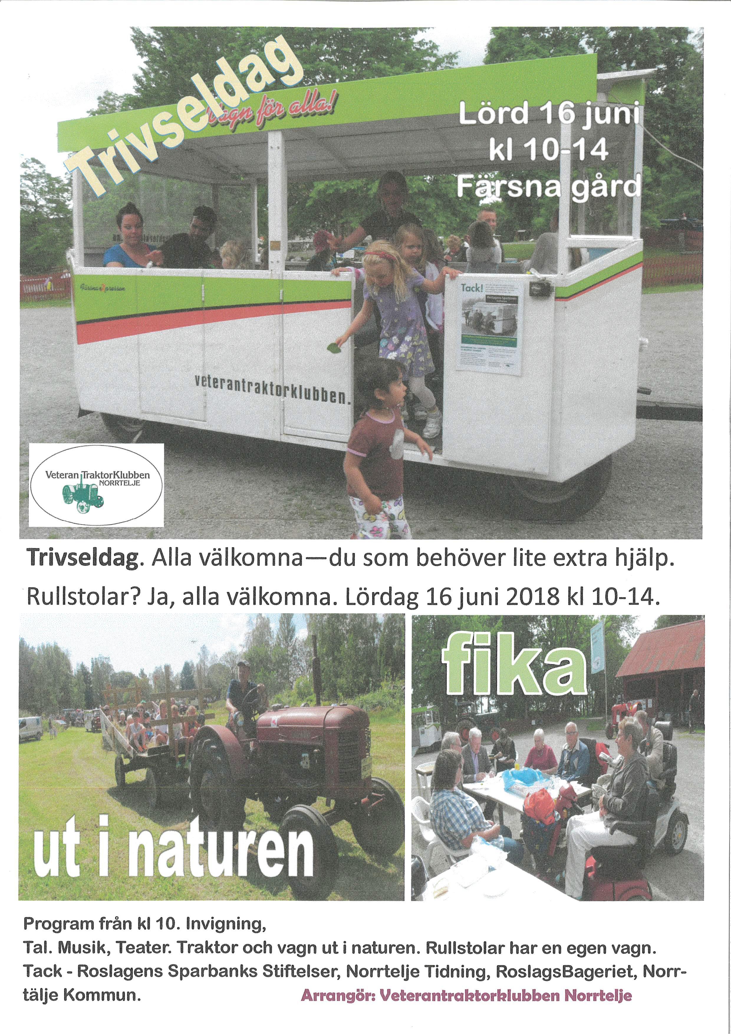 Trivseldag 16 juni Färsna Gård Norrtälje