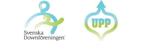 Svenska Downföreningens logotyp och UPP-prisets logotyp