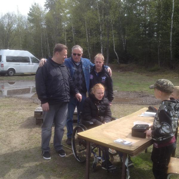 Väranäs jeepåkning anmälan Dag, Christer,Kjell och Josefin