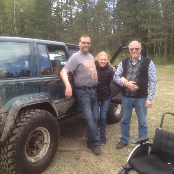 Väranäs jeepåkning Lars Seger, Josefin och Christer