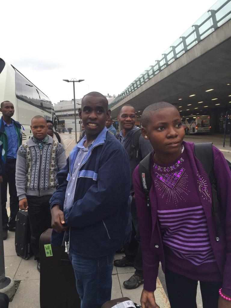 Zuberi, George och Swabia besöker Sverige