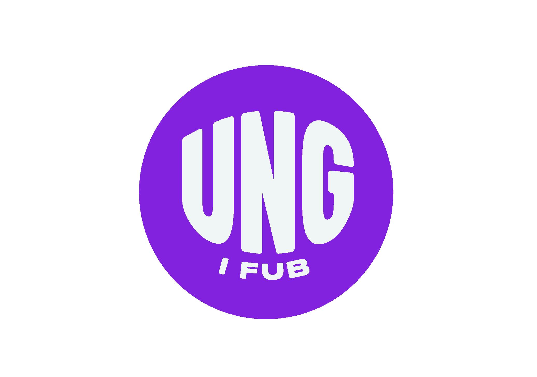 Ung i FUB-logotyp, lila