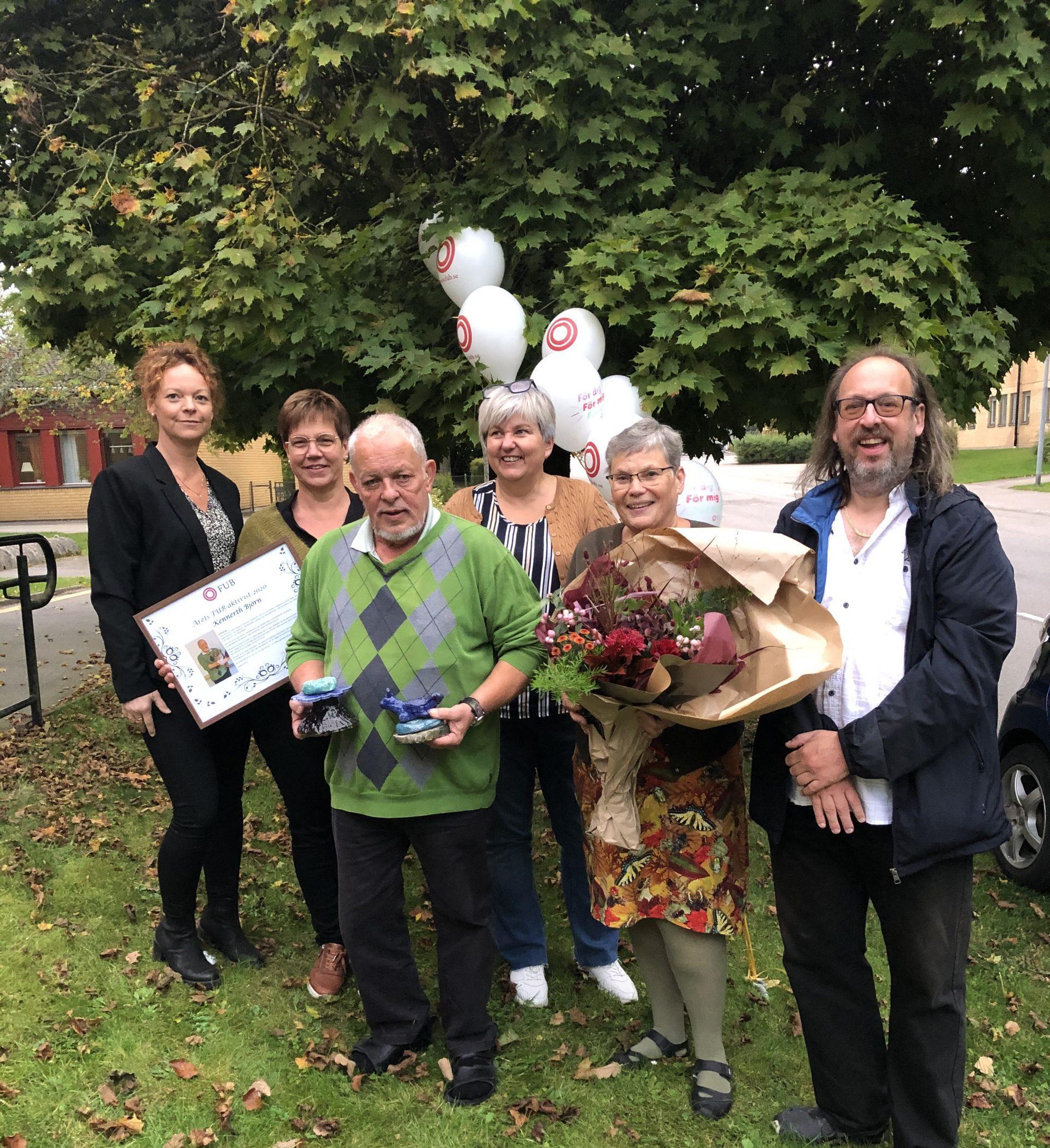 Styrelsen i Växjö och Kronoberg län firar Kennerth Björn