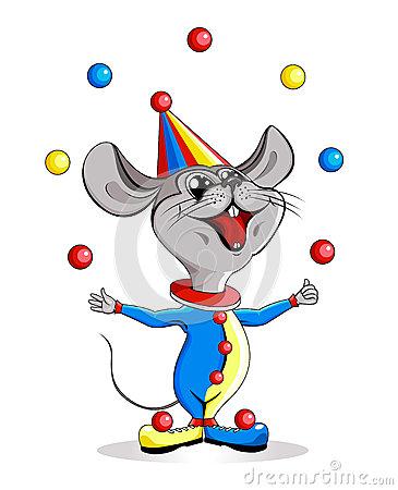 jonglor-for-tecknad-filmillustration-cirkus-mus-30835961