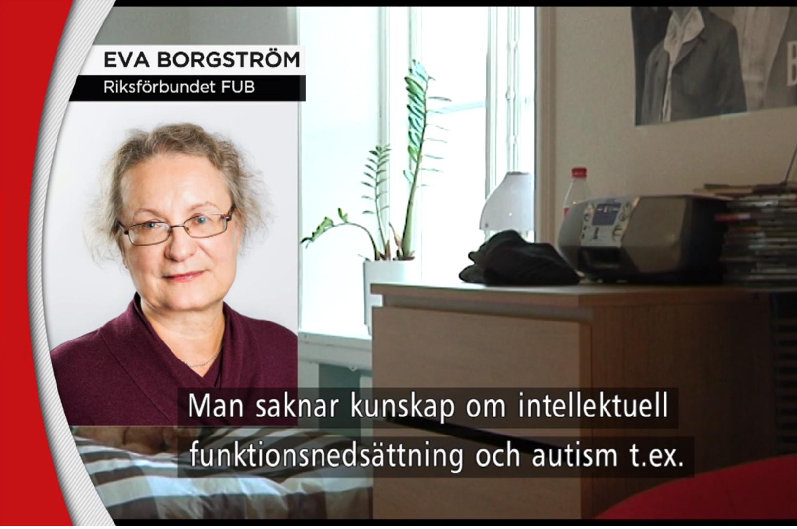 Eva Borgström TV4-inslag LSS-bostäder 20 december 2019