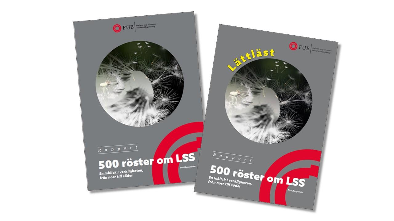 Framsidorna rapporten 500 röster om LSS
