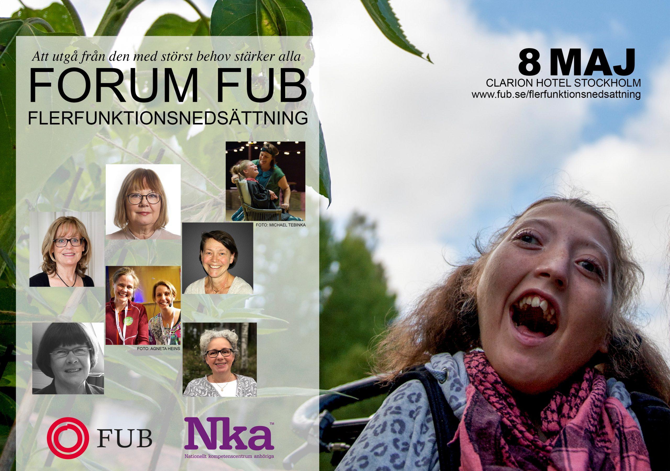 Forum FUB Flerfunktionsnedsättning, länk till all information