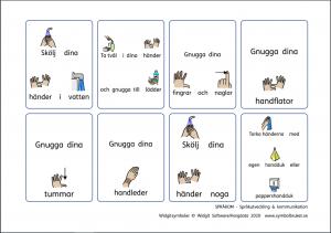 Bildstöd om handhygien av Språkom - Språkutveckling och kommunikation