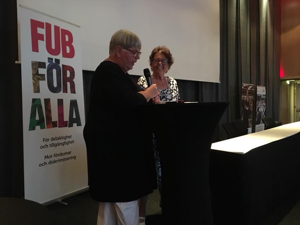 FUB:s förbundsstämma 2018 Barbro Pihl blir hedersmedlem