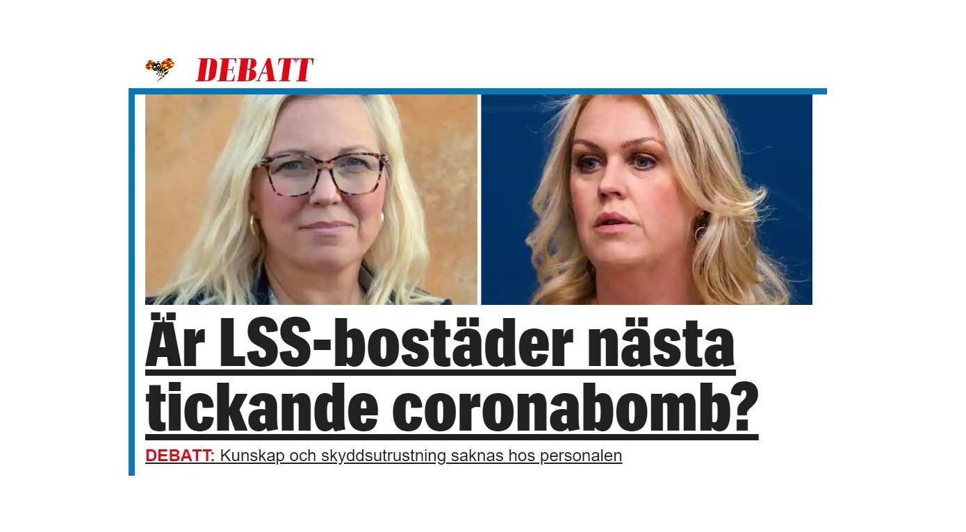 Skärmklipp av debattartikel i Expressen