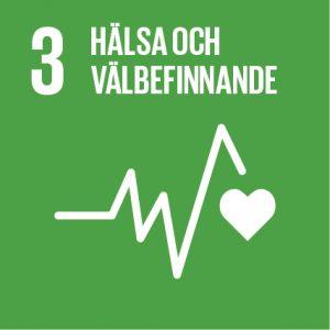 """symbol för mål 3 i Agenda 2030 """"Hälsa och välbefinnande"""""""