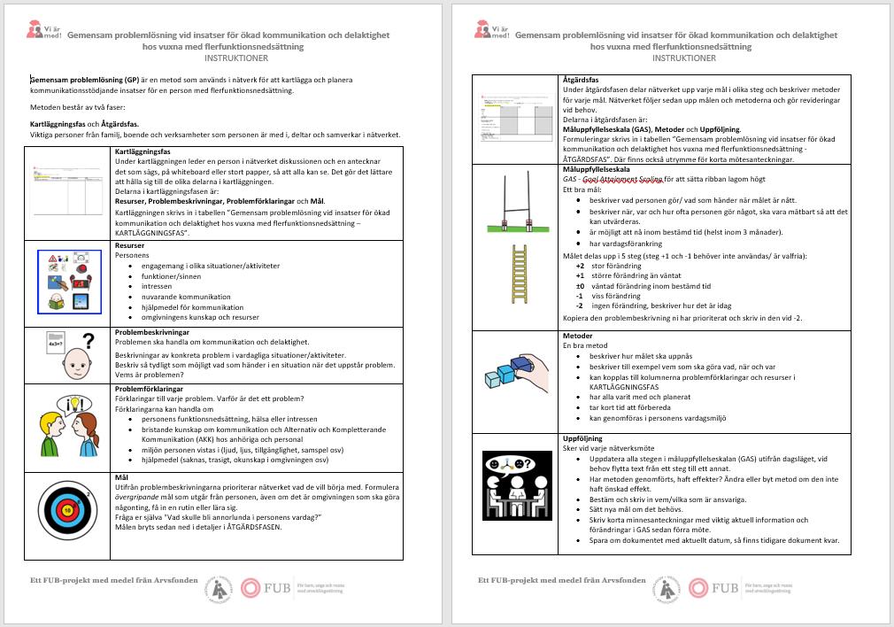 Bild instruktioner gemensam problemlösning